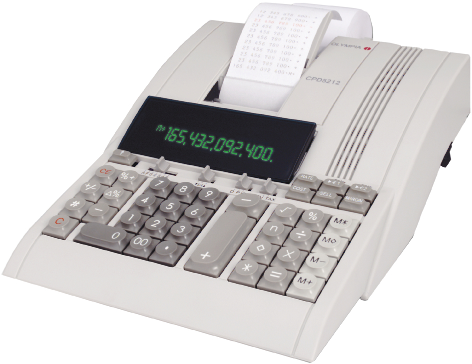 OLYMPIA druckender Tischrechner CPD-5212, 12-stelliges