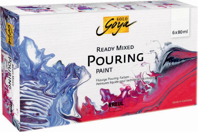 KREUL SOLO GOYA Pouring-Set ´Ready Mixed´, 6 x 80 ml