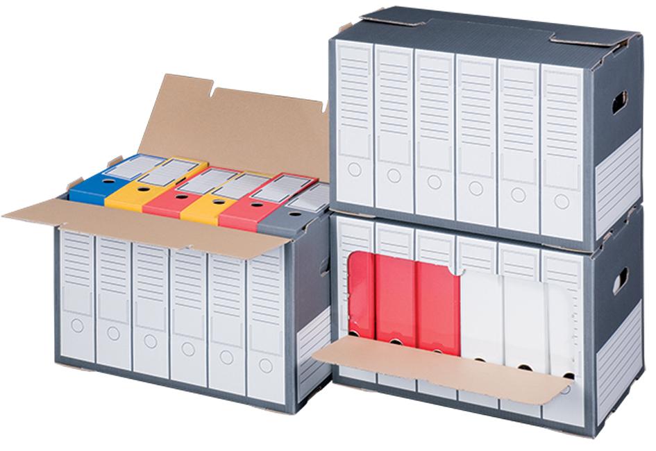 smartboxpro Archiv-Container, grau, mit perfori...