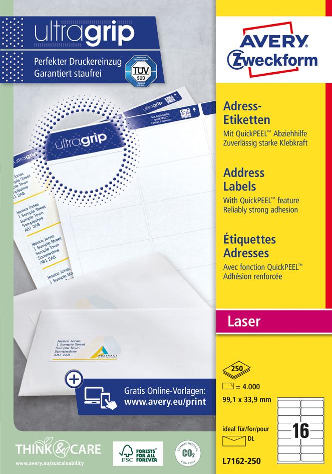 AVERY Zweckform QuickPEEL Adress-Etiketten, 99,...