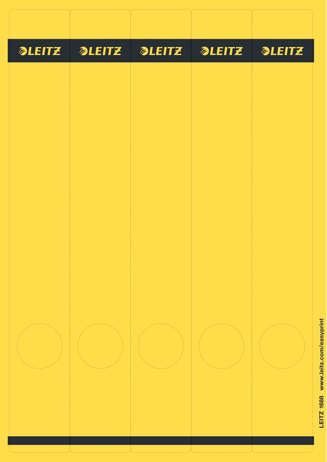 LEITZ Ordnerrücken-Etikett, 39 x 285 mm, lang, schmal, gelb - Preisvergleich