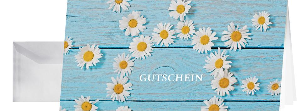sigel Gutschein-Karte ´Daisy´, DIN lang, 220 g/qm