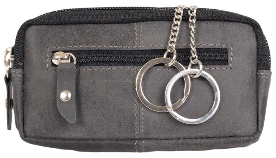 PRIDE&SOUL Schlüsseletui RFID, aus Leder, grau
