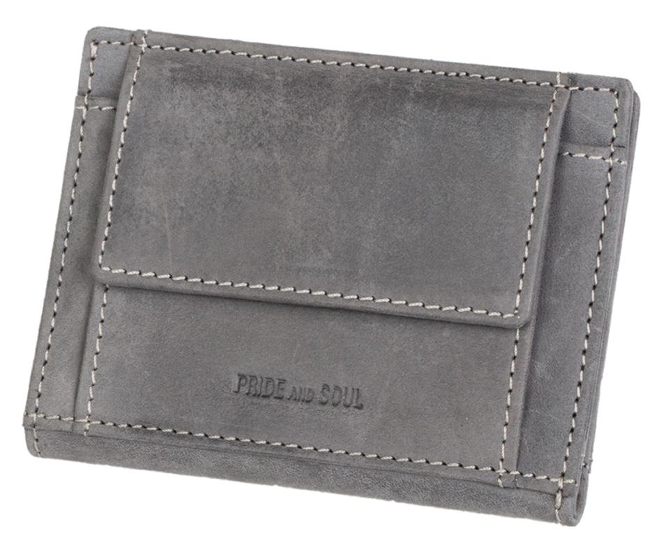 PRIDE&SOUL Kreditkartenbörse mit Münzfach, mit RFID, grau