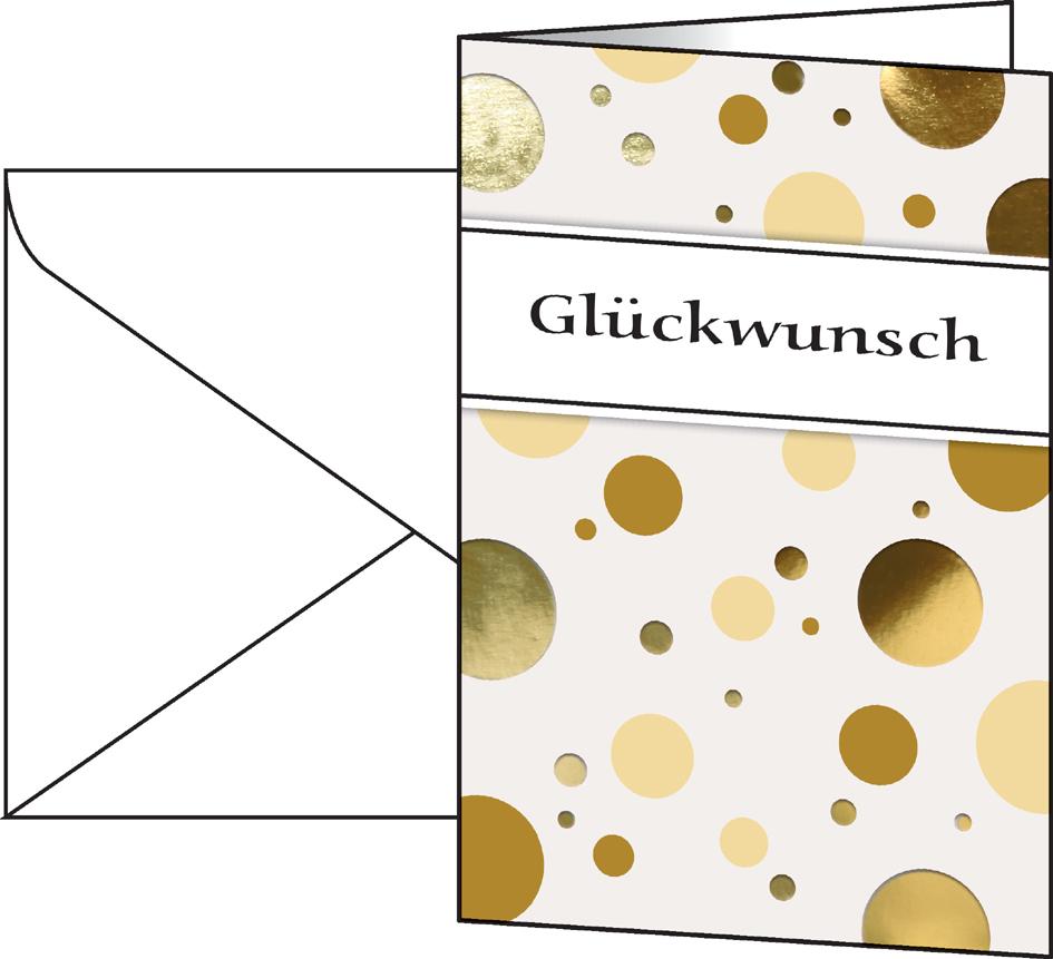 sigel Grußkarte ´Golden Bubble´, (B)115 x (H)170 mm