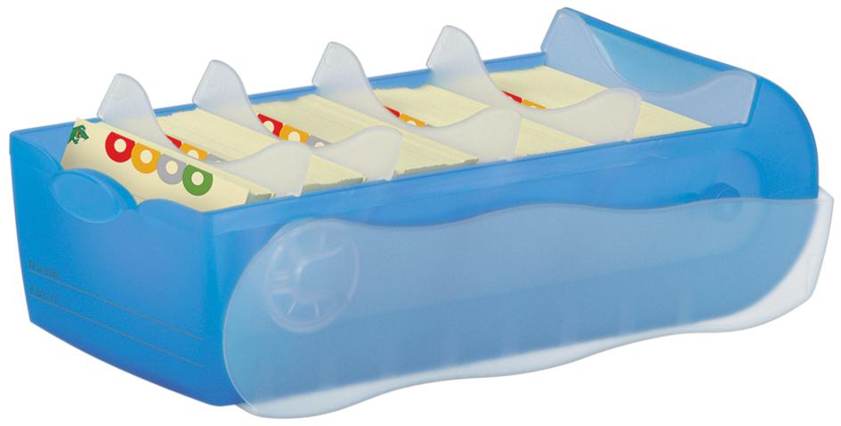 HAN Lernkartei CROCO, A8, Unterteil: blau-transluzent