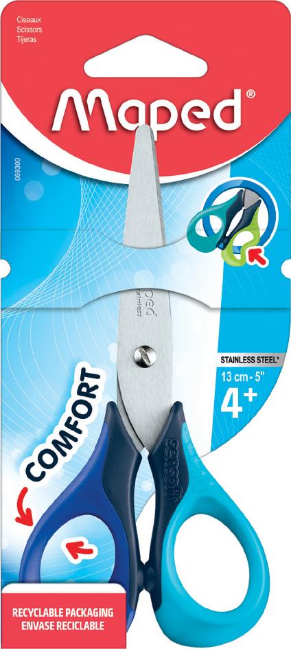 Maped Bastelschere Sensoft 3D, Länge: 130 mm, L...