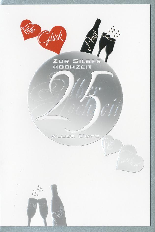 HORN Hochzeitskarte - Silberhochzeit - Folienmo...