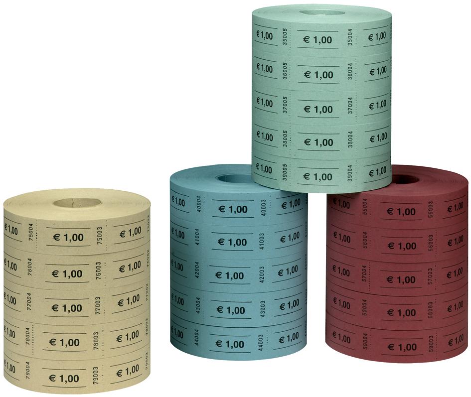 herlitz Wertmarken 1 Euro, 1.000 Abrisse je Rolle