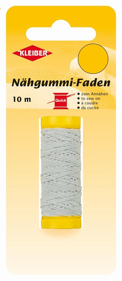 KLEIBER Nähgummi-Faden, 10 m, weiß