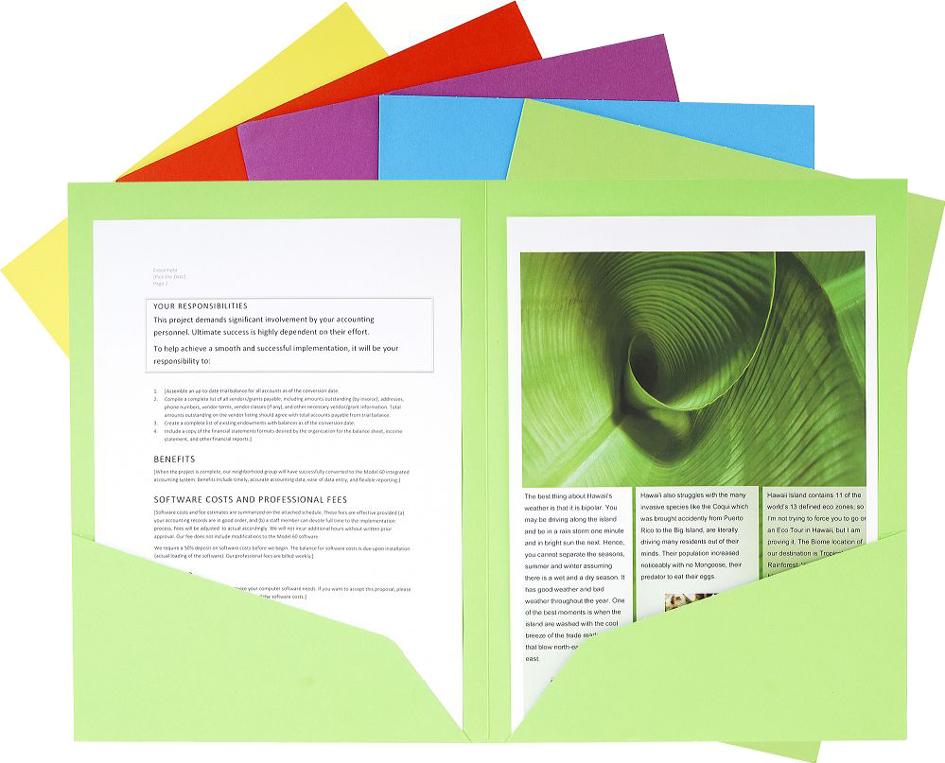 Aktenmappe ROCK'S, DIN A4, farbig sortiert