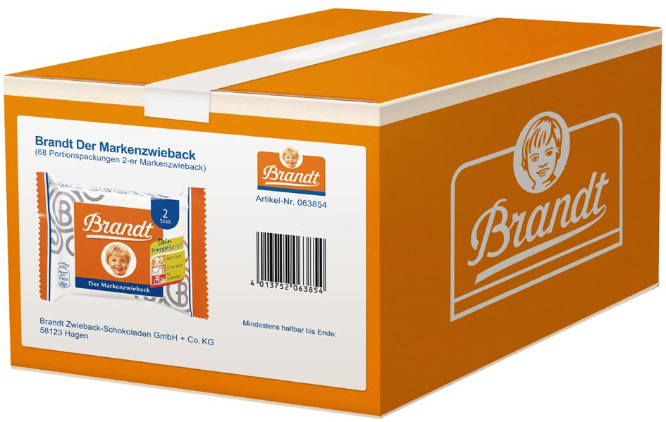 Brandt Zwieback, Portionspackungen im Karton