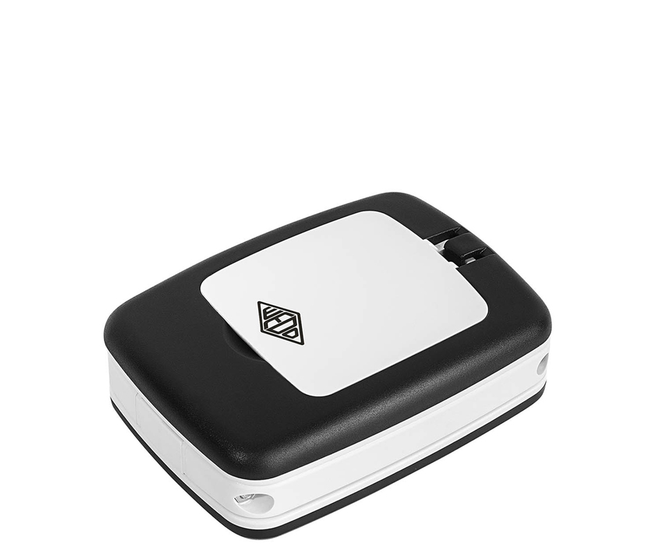 WEDO Tischlupe Pocket mit LED-Licht, weiß/schwarz