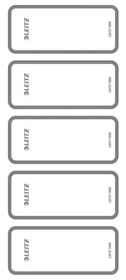 LEITZ Ordnerrücken-Etikett, 46 x 111 mm, kurz, ...