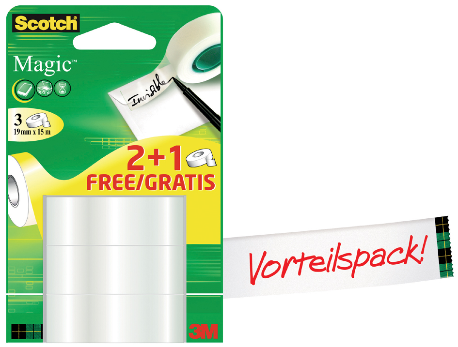 3M Scotch Klebefilm Magic 810, unsichtbar, Vorteilspack