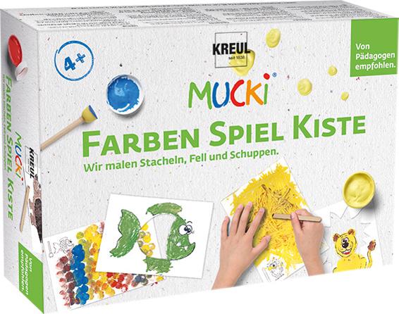 KREUL Fingerfarbe ´MUCKI´, Farben Spiel Kiste Set