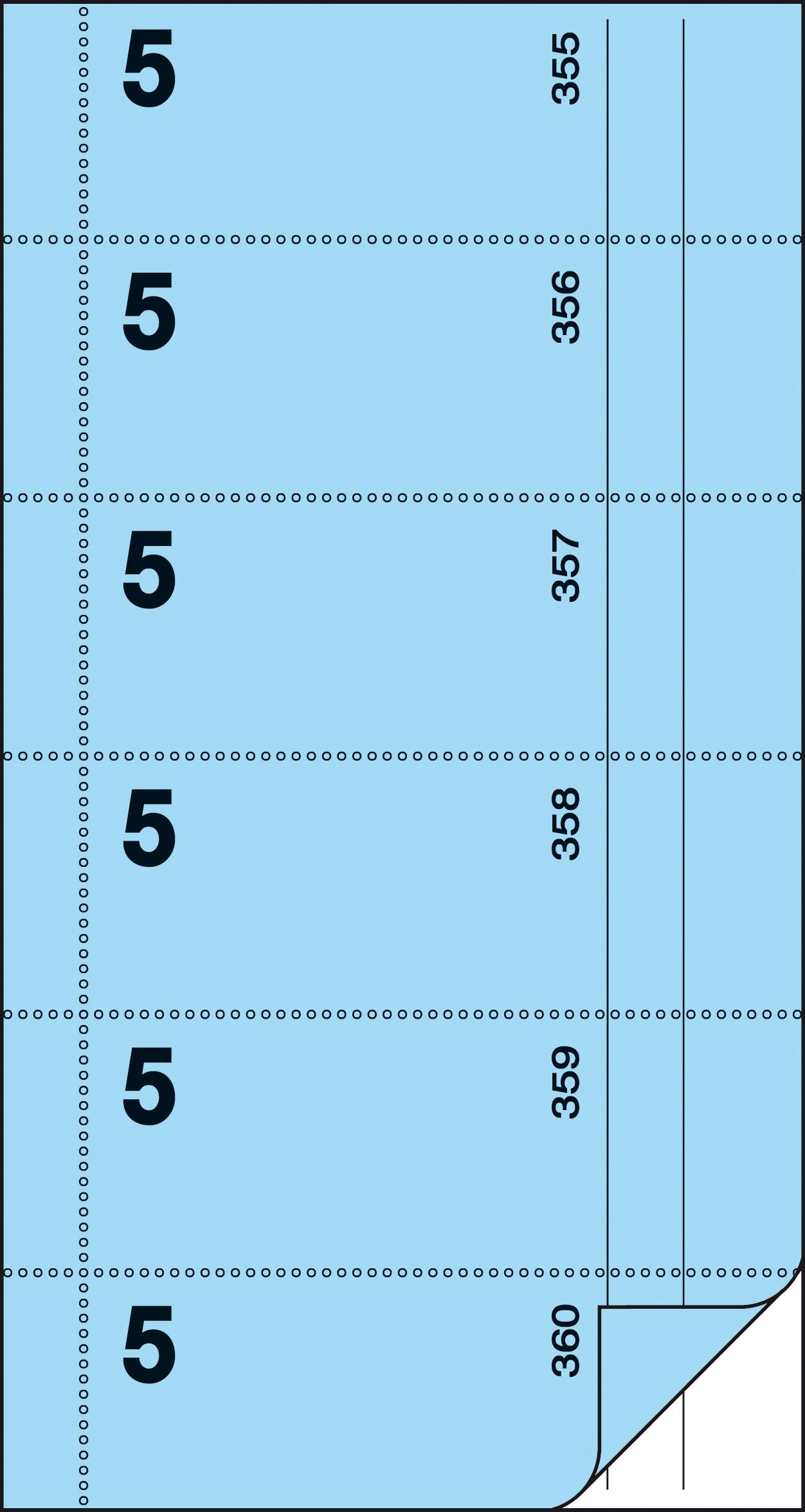 sigel Formularbuch ´Bonbuch´, Kellner-Nr. 5, blau