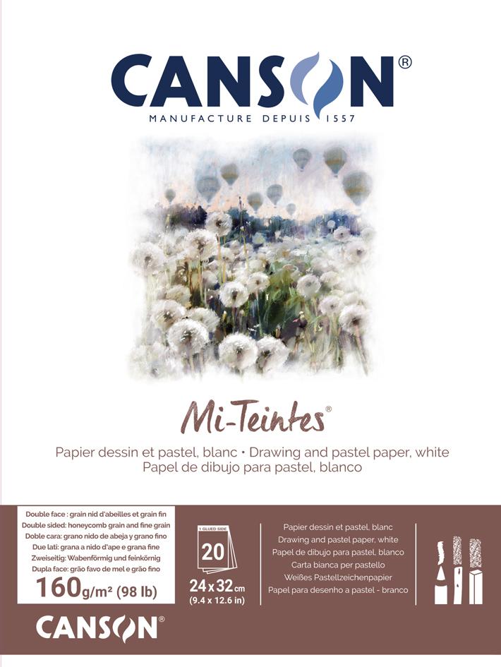 CANSON Zeichenpapier Mi-Teintes, im Block, 320 x 410 mm