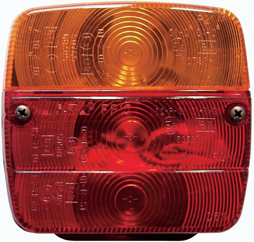 Anhänger-Rückleuchte, 3-Kammer, ohne Leuchtmittel
