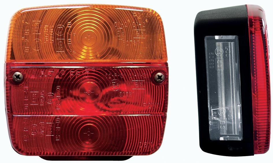 Anhänger-Rückleuchte, 4-Kammer, ohne Leuchtmittel