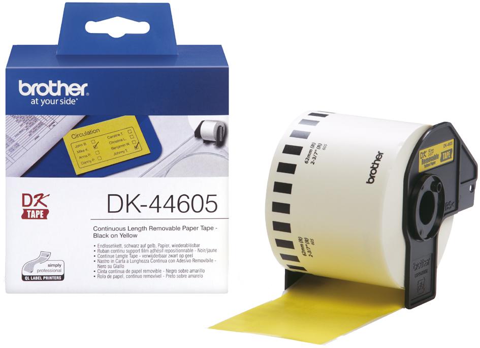 brother DK-44605 Endlos-Etiketten Papier, wiederablösbar