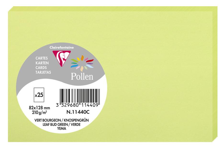 Pollen by Clairefontaine Briefkarte 82 x 128 mm, knospengrün