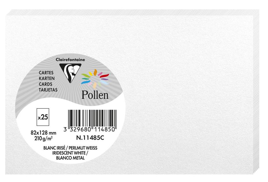 Pollen by Clairefontaine Briefkarte 82 x 128 mm, perlmutt-