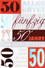 Geburtstagskarte - Schriftgestaltung - 50.Geburtstag