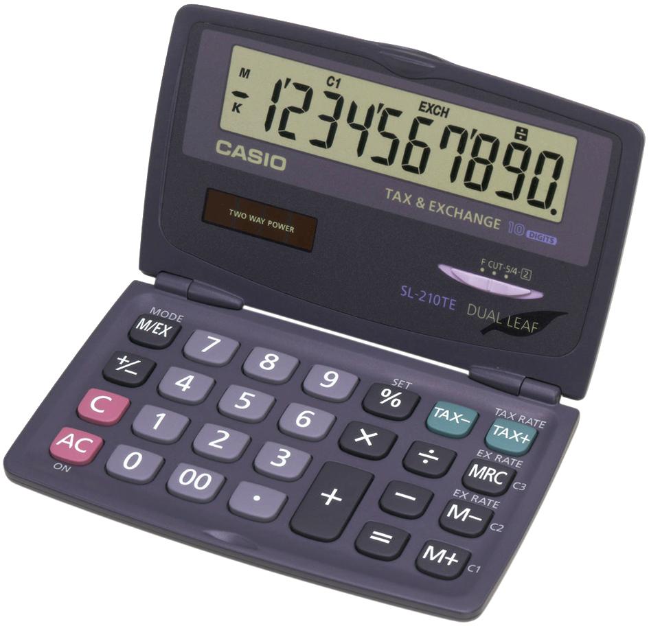CASIO Taschenrechner SL-210 TE, Solar-/ Batteriebetrieb