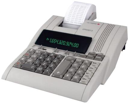 OLYMPIA Druckender Tischrechner CPD-3212S, lichtgrau
