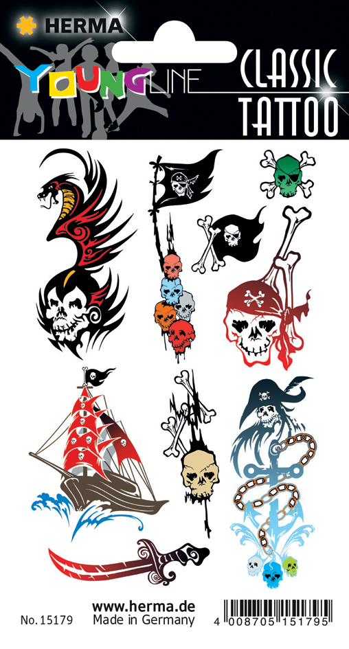 HERMA CLASSIC Tattoo ´Colour Pirats´