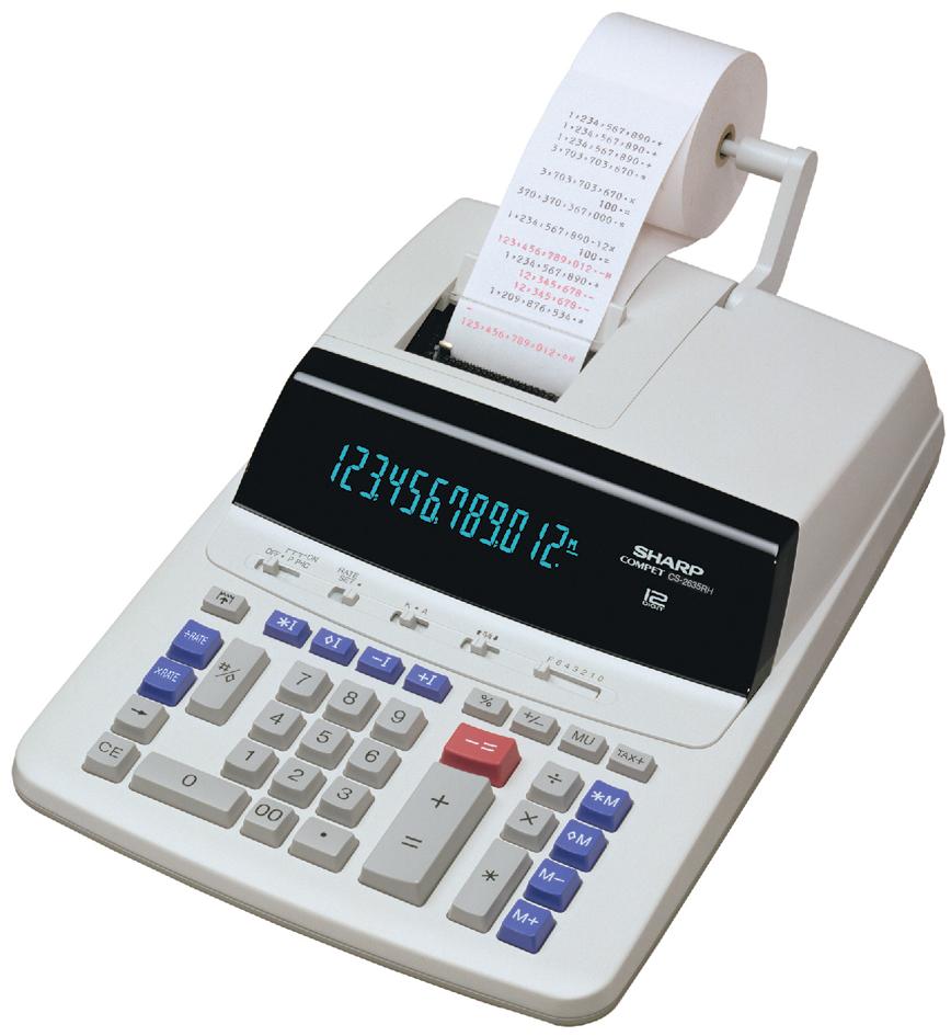 SHARP druckender Tischrechner CS-2635 RH GY-SE