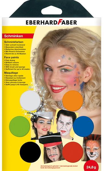 EBERHARD FABER Schminkfarben-Set ´Musical´, 6 F...