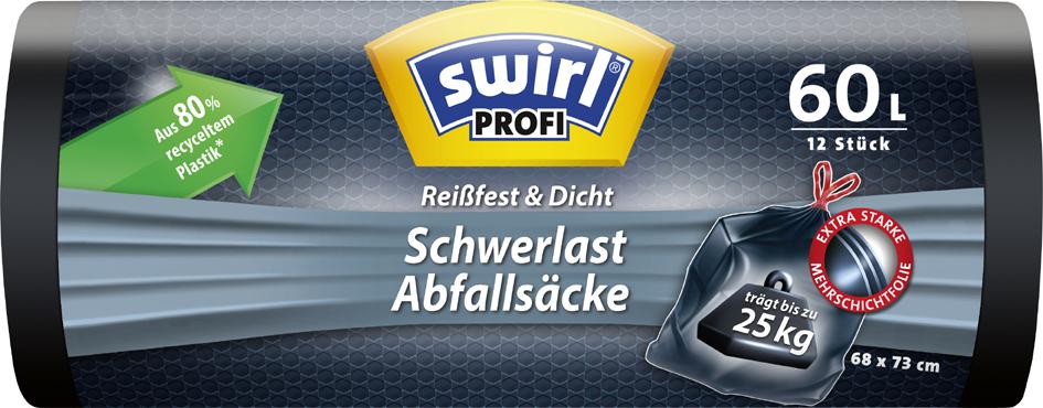 swirl Profi Schwerlast-Abfallsack, schwarz, 60 ...
