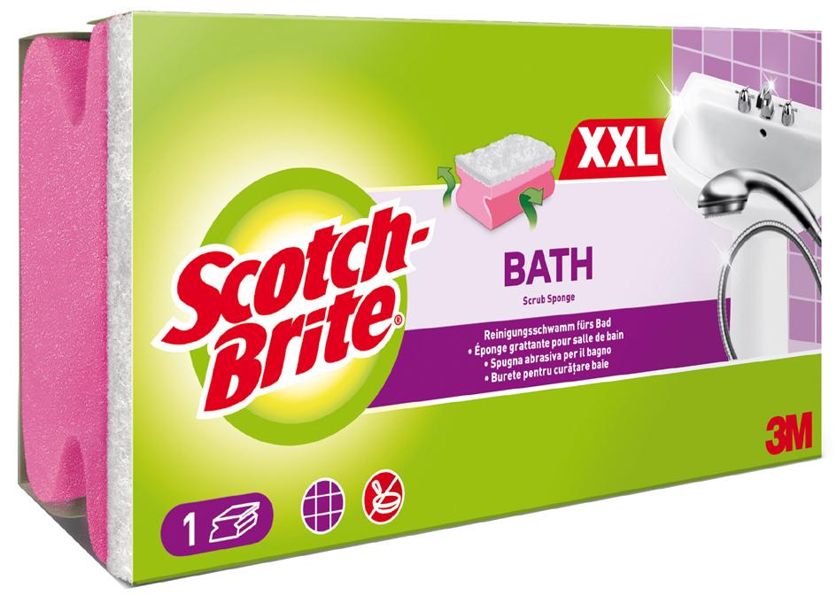 Scotch-Brite Reinigungsschwamm Soft, Farbe: ros...