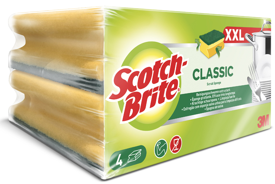 Scotch-Brite Reinigungsschwamm Classic XXL, Far...