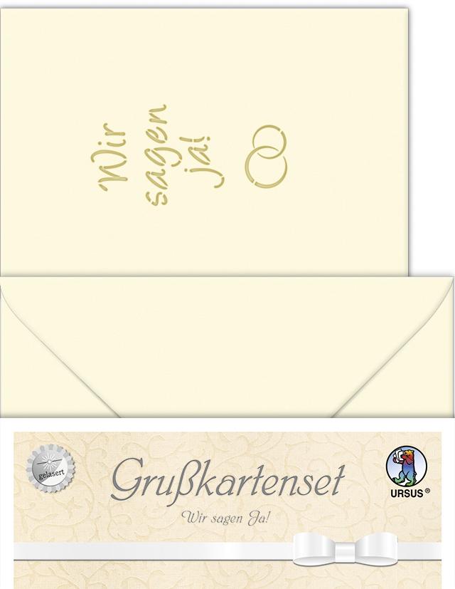 URSUS Einladungskarten - Hochzeit ´Wir sagen JA...