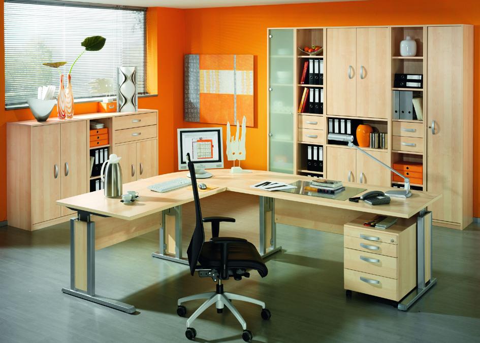 Büromöbel-Kombination 3 'JOBEXPRESS', Ahorn-