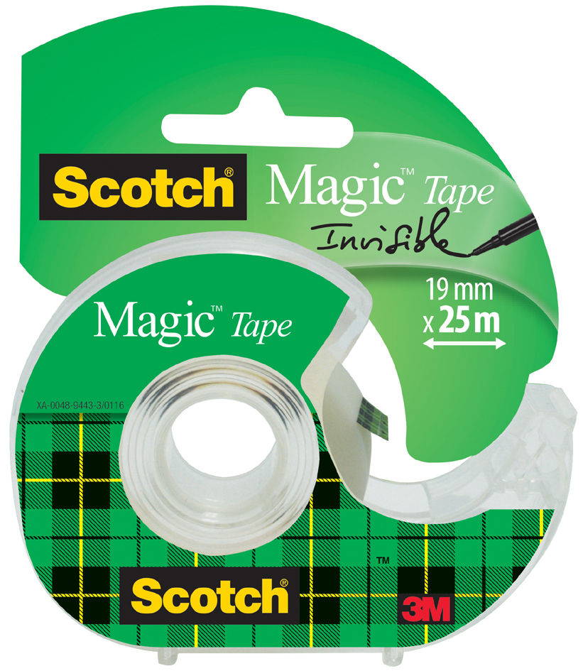 3M Scotch Klebefilm Magic 810, unsichtbar, 19 mm x 30 m