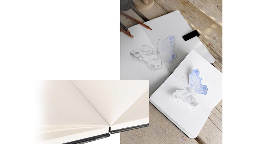 CANSON Skizzenbuch ARTBOOK 180 GRAD, 216 x 297 mm, schwarz