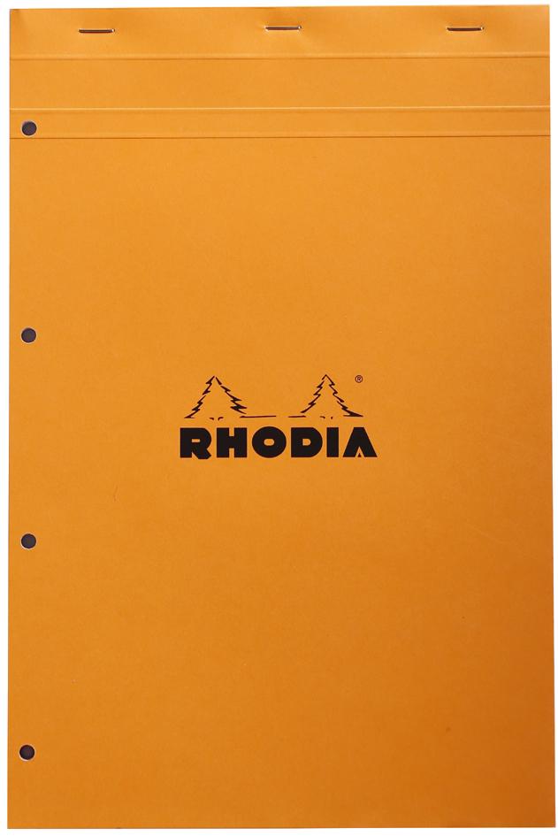 Notizblock No. 20, DIN A4+, kariert, orange