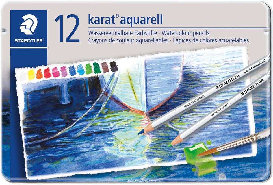 STAEDTLER Aquarellstift karat, 12er Metalletui