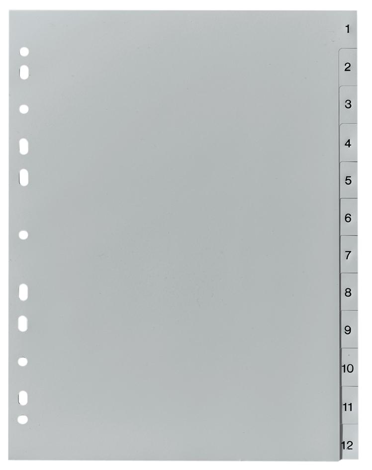 herlitz Kunststoff-Register, Zahlen, A4, 12-tei...