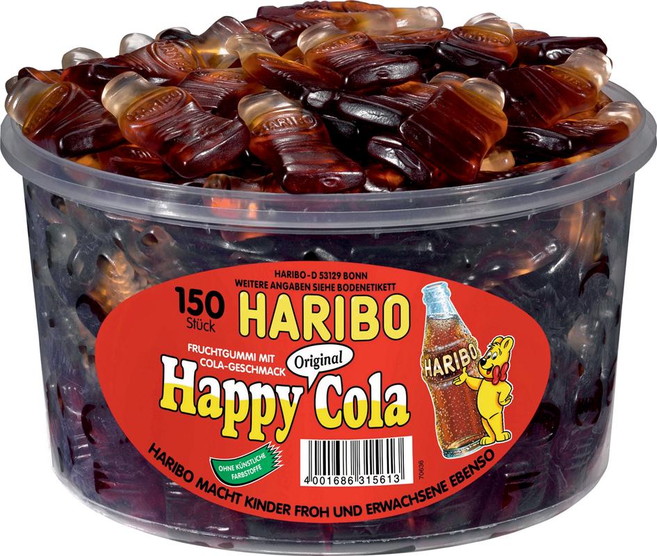 HARIBO Fruchtgummi HAPPY COLA, 150er Runddose