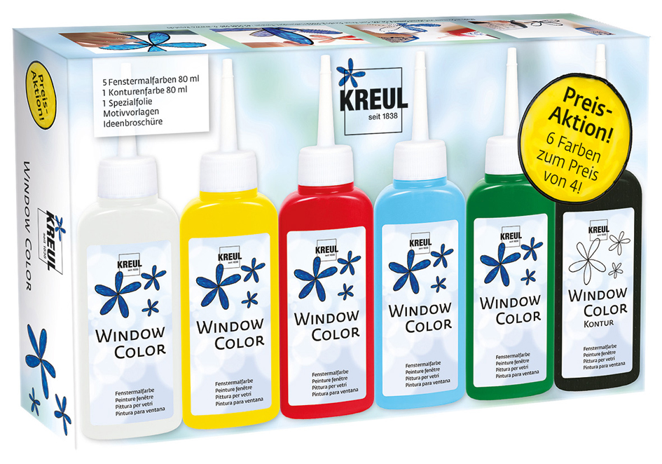 KREUL Window Color Hobby Line ´Glas Design´, Aktions-Set