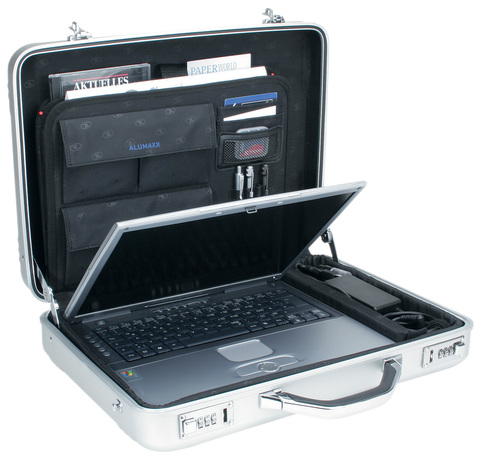 ALUMAXX Laptop-Attaché-Koffer ´MERCATO´, Aluminium, silber