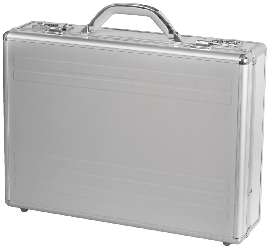 ALUMAXX Laptop-Attaché-Koffer ´KRONOS´, Aluminium, silber