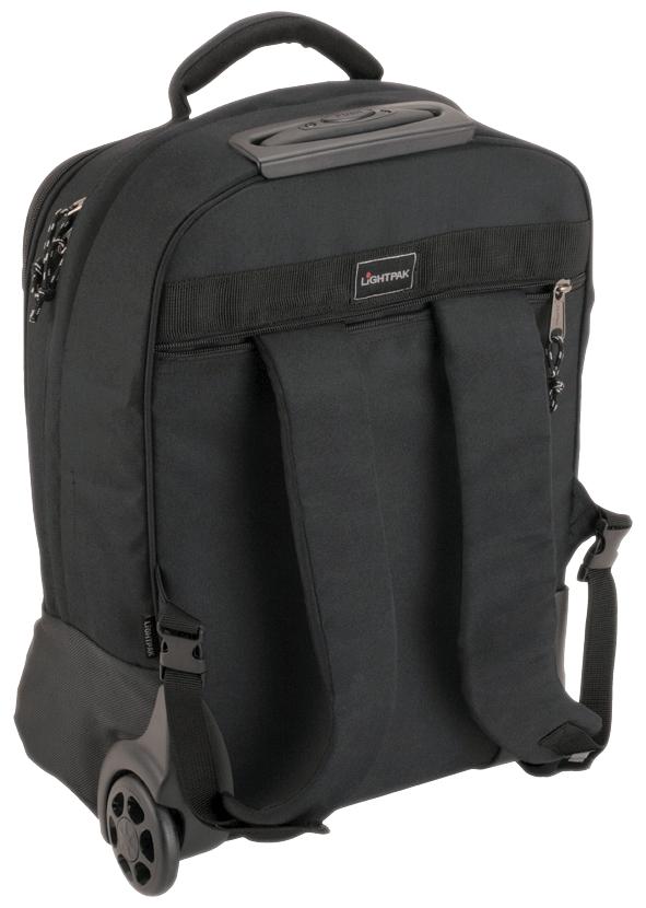 LiGHTPAK Rucksack-Trolley ´MASTER´, mit Laptopfach, schwarz