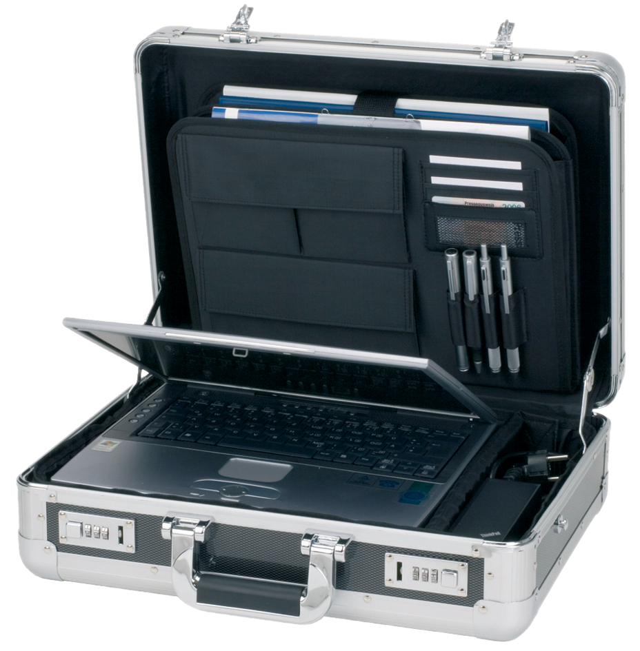 ALUMAXX Laptop-Attaché-Koffer ´CARBON´, Aluminium