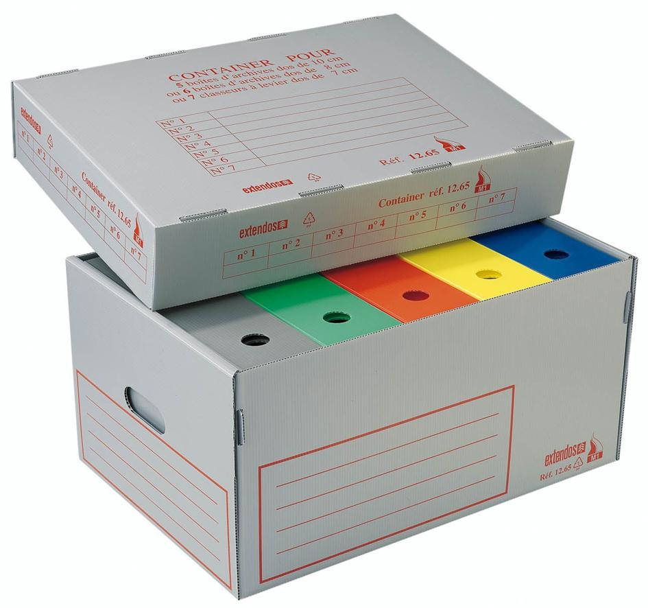 extendos Archiv- und Transportbox, aus Hohlkamm...